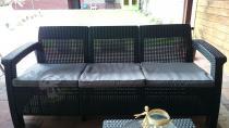 Sofa technorattan Corfu używana z zestawem Corfu Relax Set