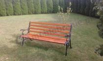 Solidna i wygodna ławka Chińska z oparciem 150 cm w ładnym ogrodzie