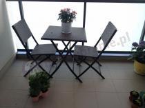 Stół 2 krzesła na balkon z technorattanu