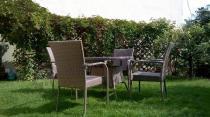 Stół 4 fotele technorattan - zestaw mebli do ogrodu