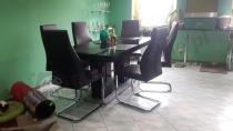 Stół do kuchni z sześcioma krzesłami Linosa 2