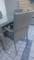 Stół i krzesła ogrodowe technoratan Rimini/Manila