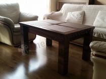 Stół obiadowy z podnoszonym blatem Kalifornia w eleganckim orzechu