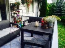 Stół ogrodowy Melody Quartet używany do kompletu Corfu Fiesta