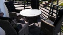 Stół ogrodowy technorattan Roma z pasującymi fotelami