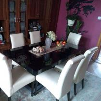 Stół rozkładany na wysoki połysk czarny Linosa 2