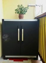 Szafa z półkami czarna balkonowa Keter XL PRO Base Shed