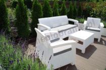 Technorattan dla 5 osób z trzyosobową sofą Corfu Curver Set Max