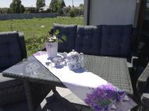 Technorattan meble tarasowe z wysokim stołem obiadowym Trivento Dining