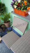 Technorattan na balkon w odcieniach szarości Smart