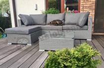 Ustawny zestaw ogrodowy w szarym kolorze Nilamito V Grey & Grey