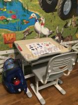 Wielofunkcyjne biurko z regulowanym blatem Piccolino Grey Fun Desk