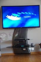 Wieszak na telewizor z półką Meliconi czarny carbon