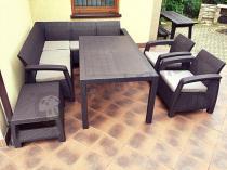 Wygodna sofa narożna ogrodowa Corfu Relax Duo Max