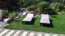 Wygodne leżaki do ogrodu z poduszką Daytona Allibert Brązowy