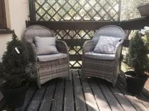 Wygodne meble ratanowe na balkon fotele Altito Dim Grey