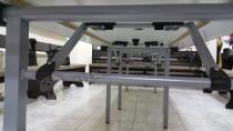 Wzmacniany stalowymi profilami stół składany 180x90