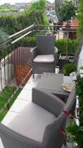 Zestaw balkonowy w niskiej cenie Corfu Rosario Balcony Set Cappuccino