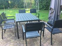 Zestaw mebli ogrodowych aluminiowych z deskami poliwood Rimini