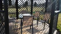 Zestaw mebli ogrodowych metalowych na taras Bologna Brown