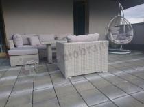 Zestaw mebli ogrodowych na taras Ligurito VI Plus Off-White Elite & Taupe