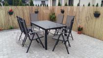 Zestaw mebli ogrodowych z aluminium Rimini czarny