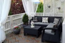 Zestaw ogrodowy Corfu Relax Set w pięknej aranżacji