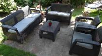 Zestaw ogrodowy Corfu Set Max z dodatkową sofą