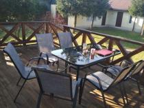 Zestaw ogrodowy metalowy na taras z krzesłami textiline