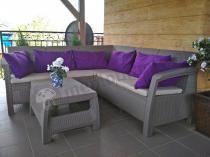 Zestaw ogrodowy narożnik z fotelami Corfu Relax Duo z poduszkami