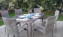 Zestaw ogrodowy rattanowy dla 6 osób Fiesta/Venecja