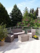 Zestaw ogrodowy z pojemną skrzynią z funkcją stolika Corona Box