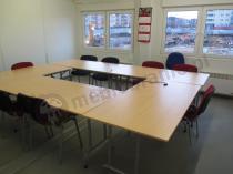 Zestaw stołów konferencyjnych Rico w elegancki prostokąt