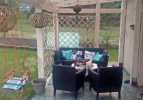 Zestaw wypoczynkowy na taras Keter Salemo 3 na przydomowym tarasie