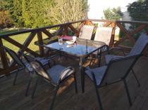 Zestawy ogrodowe metalowe ze szklanym stołem Bologna