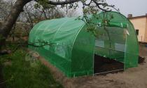 Zielony foliak na warzywa 6*3m metalowa konstrukcja