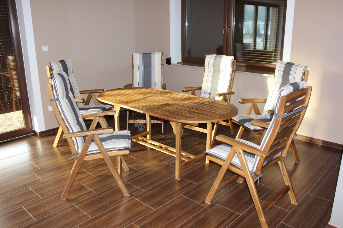 Składane meble do salonu Kennedy zrobione z wysokiej jakości drewna