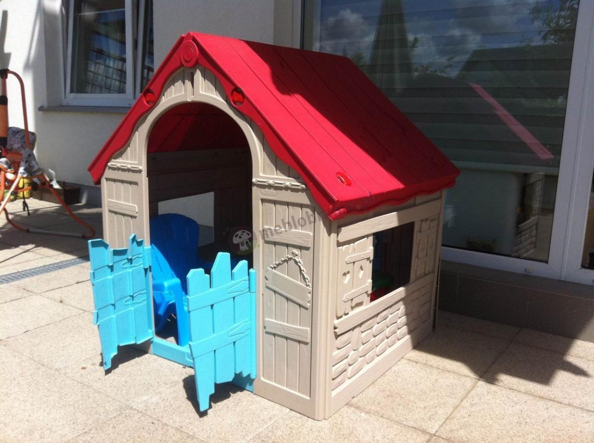 Składany domek dla dziecka z ruchomymi drzwiczkami i oknami Keter