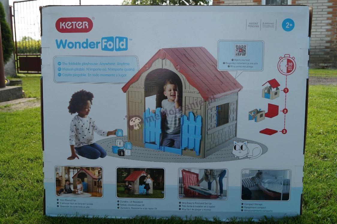 Składany domek ogrodowy dla dzieci z podwójnym wyjściem Keter - karton