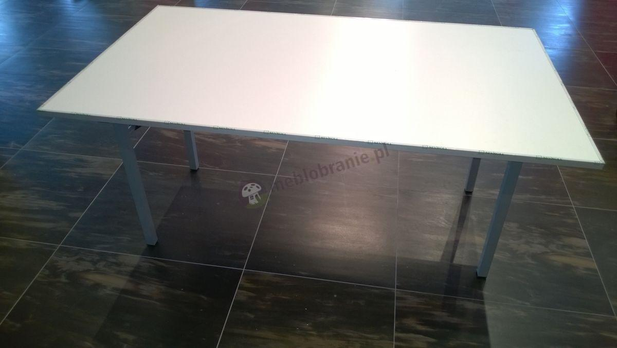 Składany stół bankietowy z białym blatem