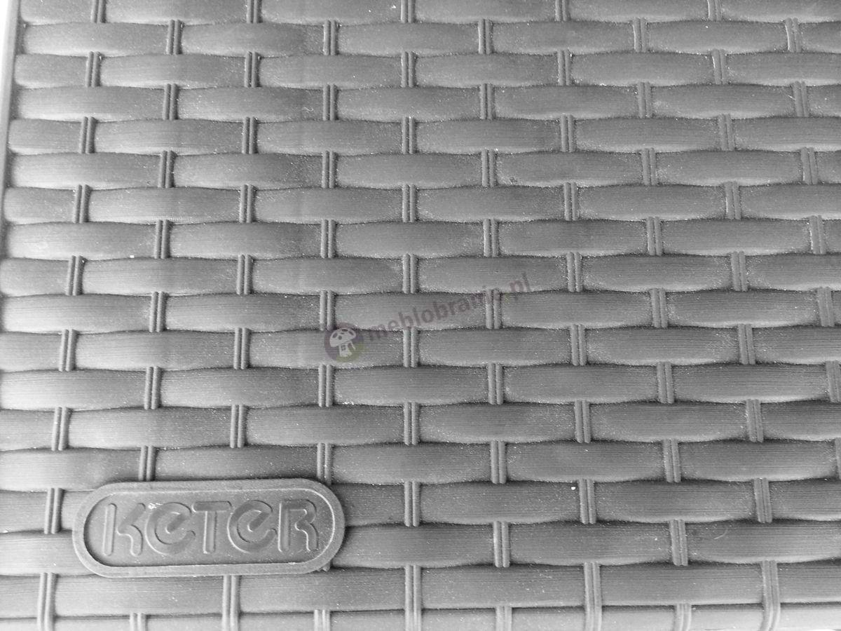 Skrzynia balkonowa technorattan efekt zbliżenie na strukturę