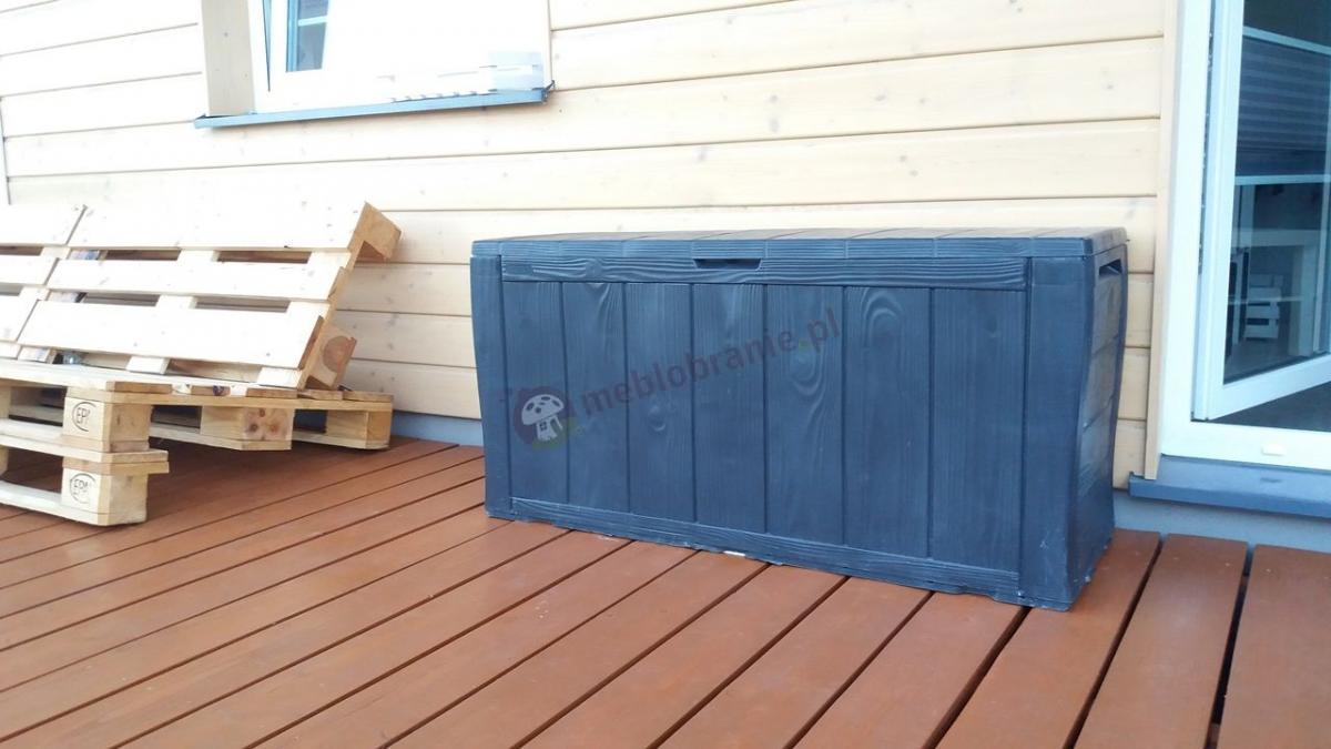 Skrzynia na taras drewnopodobna Sherwood Box 270L