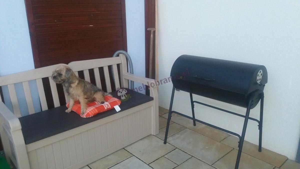 Skrzynia ogrodowa, kufer i ławka do siedzenia w jednym - Eden Garden Bench 265L