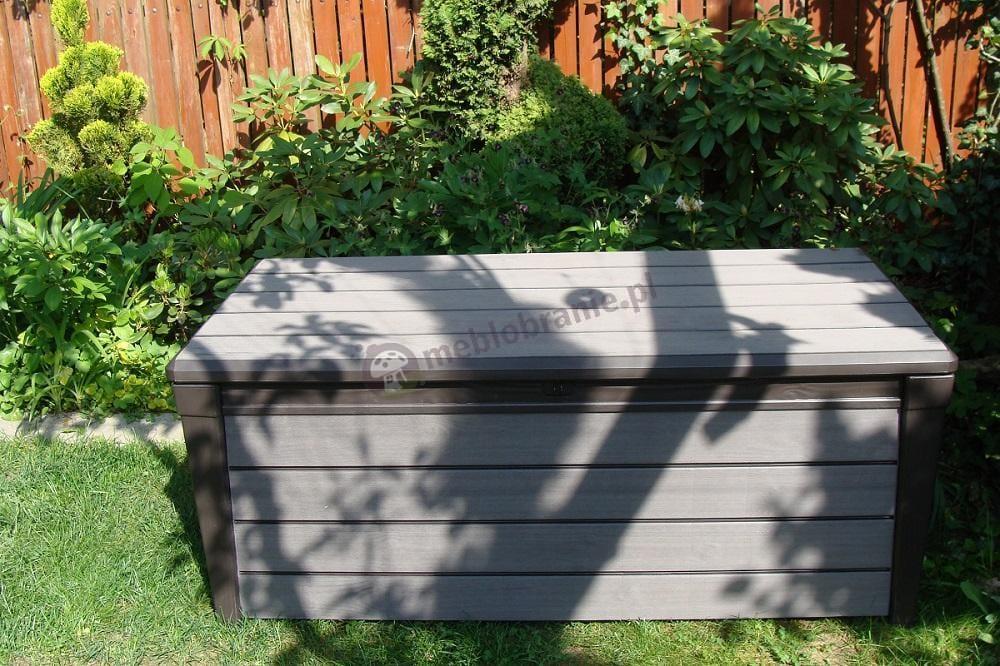 Skrzynia ogrodowa plastikowa imitująca drewnianą Keter Brushwood