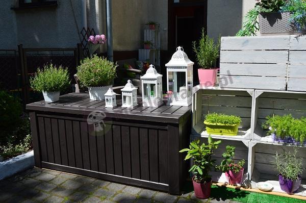 Skrzynia ogrodowa w zjawiskowej aranżacji naszej klientki
