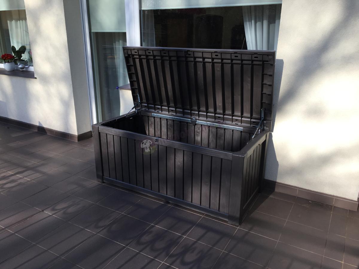 Skrzynia ogrodowa wyglądająca jak drewniana Rockwood Box 570L