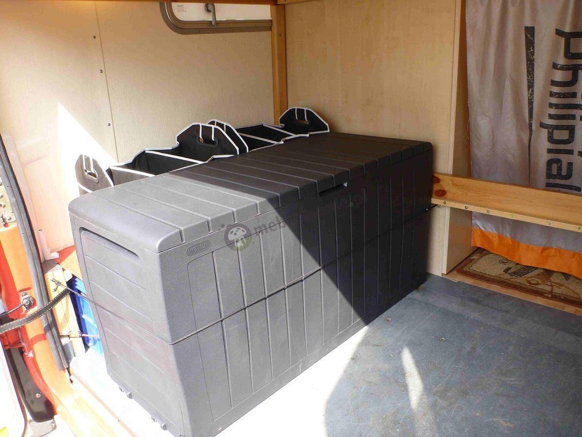Skrzynia plastikowa Keter używana w kamperze
