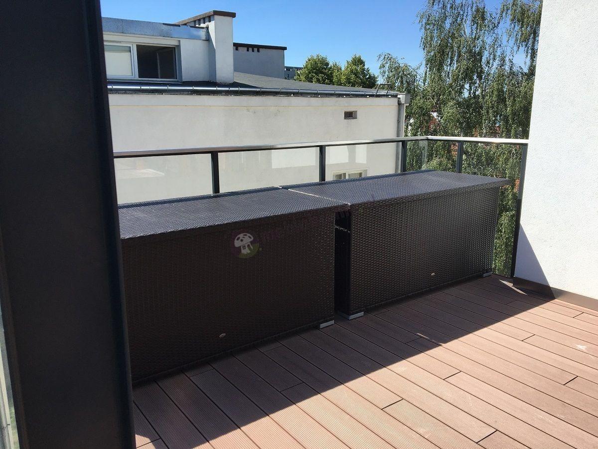 Skrzynie balkonowe z technorattanu plecionka Nilamito