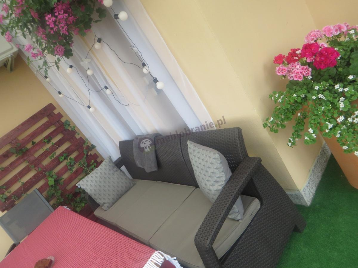 Sofa dla 3 osób na taras lub do ogrodu Curver Corfu Love