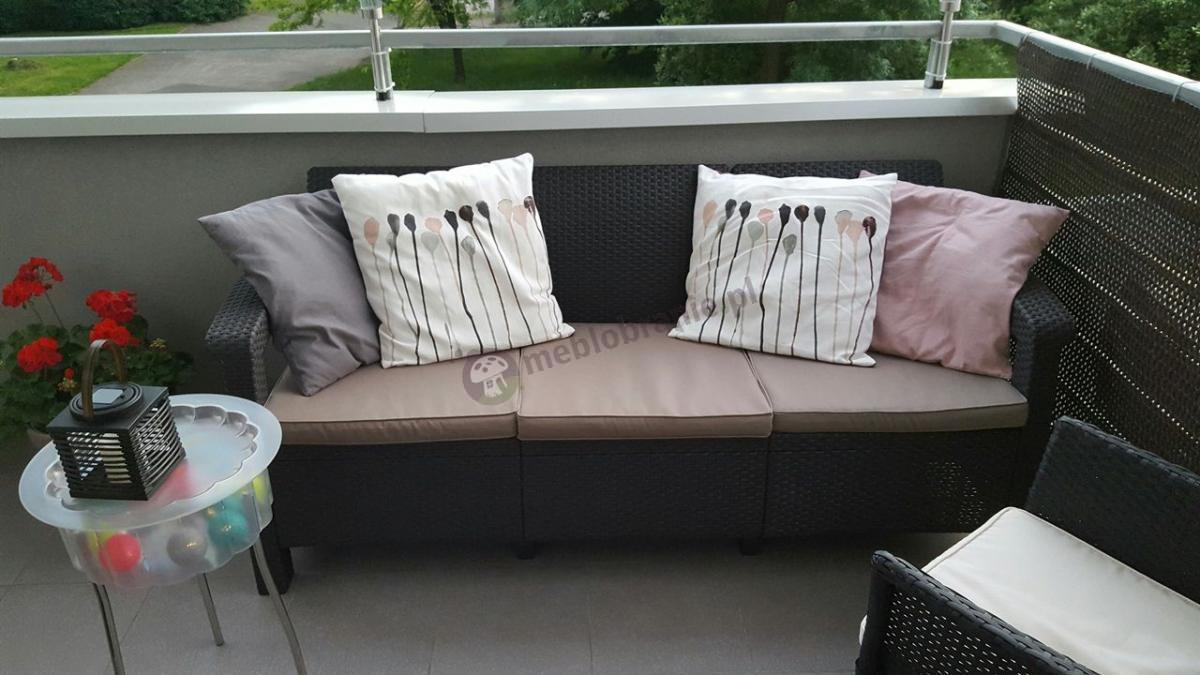 Sofa ogrodowa 3 osobowa Corfu Love Seat Max brązowa